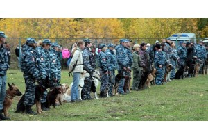 Соревнования служебных собак на кубок Московского региона Международной полицейской ассоциации